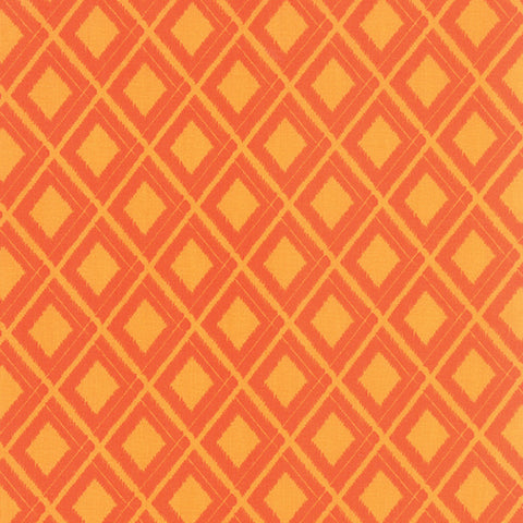 Simply Colorful Ikat Diamond in Orange