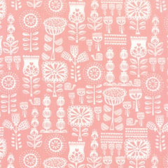 Lil' Red Grandma's Wallpaper in Pink from Lil' Red by Stacy Iset Hsu for Moda