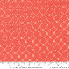 Sundrops in Dark Coral from Little Miss Shabby by Corey Yoder for Moda