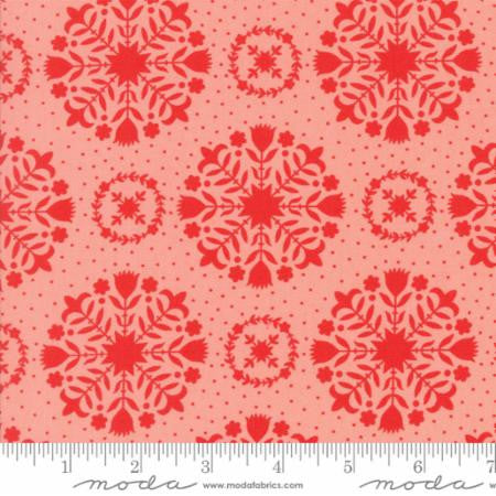 Handmade Floral Olivia in Red Coral