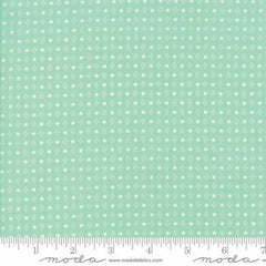 Handmade Floral Spots in Aqua from Handmade by Bonnie and Camille for Moda