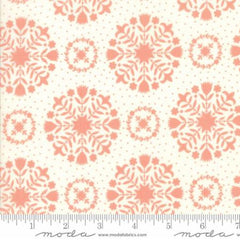 Handmade Floral Olivia in Coral Cream from Handmade by Bonnie and Camille for Moda