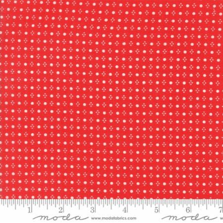 Handmade Floral Spots in Red