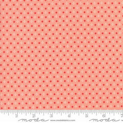 Handmade Floral Spots in Coral from Handmade by Bonnie and Camille for Moda
