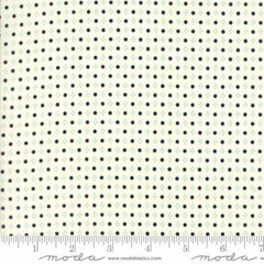 Handmade Floral Spots in Black Cream from Handmade by Bonnie and Camille for Moda