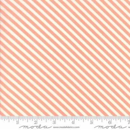 Handmade Floral Candy Stripe in Coral