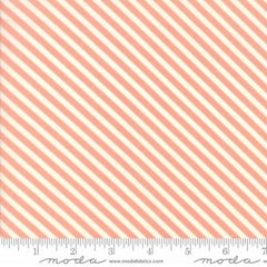 Handmade Floral Candy Stripe in Coral from Handmade by Bonnie and Camille for Moda