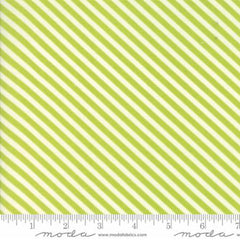 Handmade Floral Candy Stripe in Green from Handmade by Bonnie and Camille for Moda