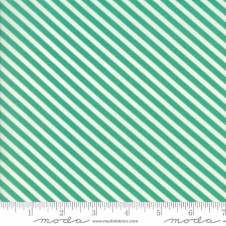 Handmade Floral Candy Stripe in Teal