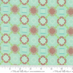 Handmade Floral Cross Stitch in Aqua from Handmade by Bonnie and Camille for Moda