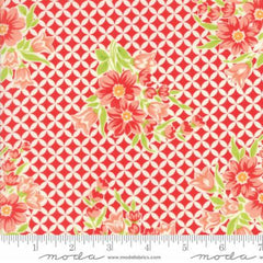 Handmade Floral Gwendolyn in Red from Handmade by Bonnie and Camille for Moda