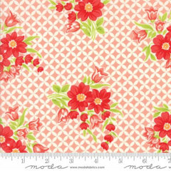 Handmade Floral Gwendolyn in Coral from Handmade by Bonnie and Camille for Moda
