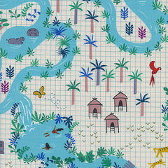 Lagoon Lagoon Map in Natural from Lagoon by Rashida Coleman-Hale for Cotton+Steel