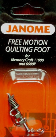 Free Motion Quilting Foot for Memory Craft 11000 and 6600P
