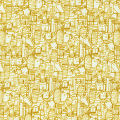 Shibuya in Mustard from Tokyo Train Ride by Sarah Watts for Cotton+Steel