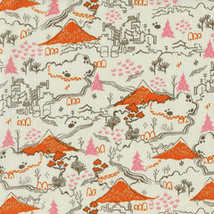 Countryside in Natural from Tokyo Train Ride by Sarah Watts for Cotton+Steel