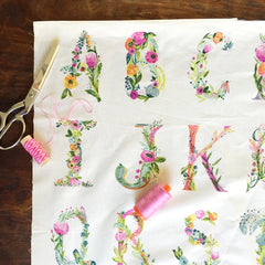 Joie de Vivre Joyeux Panel in Alphabet from Joie de Vivre by Bari J for Art Gallery
