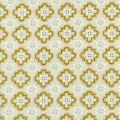 Honeymoon Porch Tile in Mustard from Honeymoon by Sarah Watts for Cotton+Steel