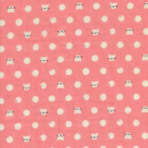 Cat Lady Friskers Double Gauze in Pink