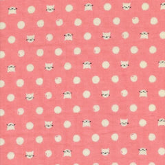 Cat Lady Friskers Double Gauze in Pink from Cotton+Steel by Melody Miller for Cotton+Steel