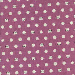 Cat Lady Friskers in Lavender from Cat Lady by Sarah Watts for Cotton+Steel