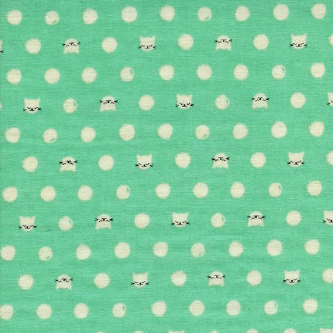Cat Lady Friskers Double Gauze in Teal