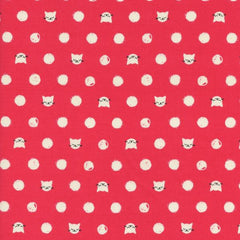 Cat Lady Friskers in Coral from Cat Lady by Sarah Watts for Cotton+Steel
