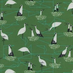From Porto With Love Stork Nest in Green from From Porto With Love by Sarah Watts for Cotton+Steel
