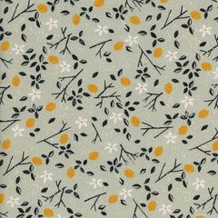 From Porto With Love Lemon Trees on Mint from From Porto With Love by Sarah Watts for Cotton+Steel