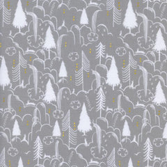 Sleep Tight Bunny Hill in Neutral Metallic from Sleep Tight by Sarah Watts for Cotton+Steel