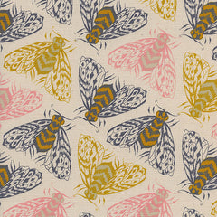 Magic Forest Bees in Yellow from Magic Forest by Sarah Watts for Cotton+Steel