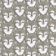 Magic Forest Foxes in Grey from Magic Forest by Sarah Watts for Cotton+Steel