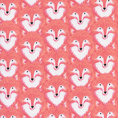 Magic Forest Foxes in Coral from Magic Forest by Sarah Watts for Cotton+Steel
