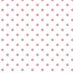 Basically Hugs Dots in Pink on White from Basically Hugs by Helen Stubbings for Red Rooster Fabrics