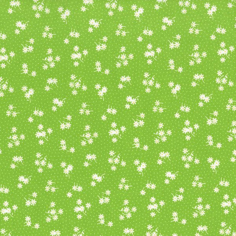 Kitchen Sink XI Flowers and Dots in Lime