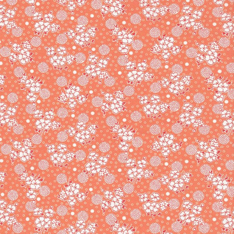 Kitchen Sink XI Flowers and Circles in Peach