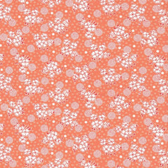 Kitchen Sink XI Flowers and Circles in Peach from Everything But The Kitchen Sink XI by Yuko Hasegawa