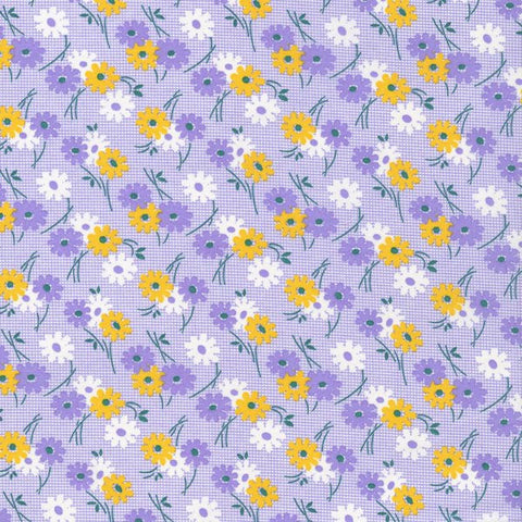 Kitchen Sink XI Flowers on Graphs in Purple