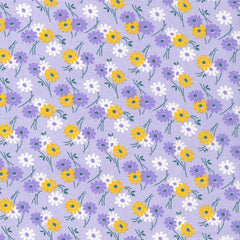 Kitchen Sink XI Flowers on Graphs in Purple from Everything But The Kitchen Sink XI by Yuko Hasegawa