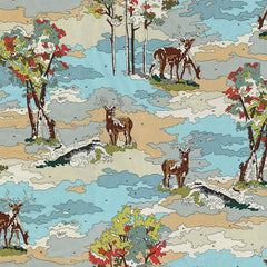 Alpine Lush Scenic in Earth from Alpine by Erin Michael for Moda