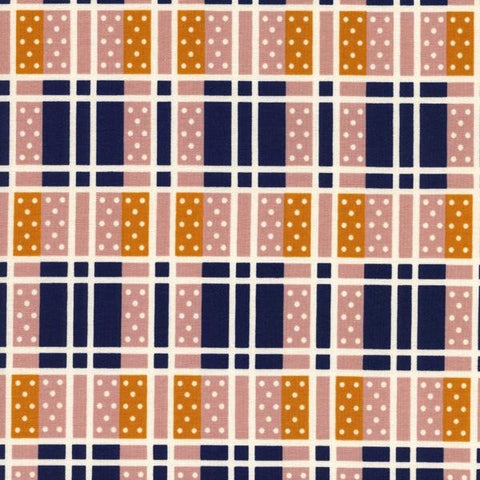 Lucky Strikes Domino Plaid in Navy