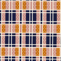 Lucky Strikes Domino Plaid in Navy from Lucky Strikes by Kimberly Kight for Cotton+Steel