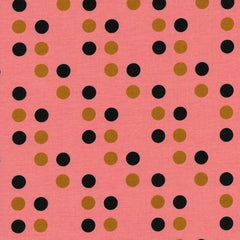 Lucky Strikes Dime Store Dot in Coral from Lucky Strikes by Kimberly Kight for Cotton+Steel