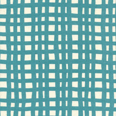 Yours Truly Going Steady Grid in Teal from Yours Truly by Kimberly Kight for Cotton+Steel