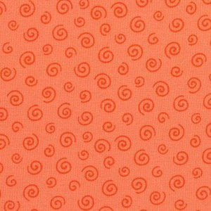 L's Modern Fiesta Time! Spiral Out in Red on Orange