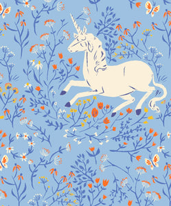 Heather Ross 20th Anniversary Unicorn in Blue