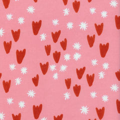 Clover Tulips in Pink from Clover by Alexia Abegg for Cotton+Steel