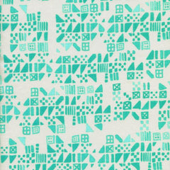 Clover Tiny Tiles in Aqua from Clover by Alexia Abegg for Cotton+Steel