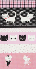 Nyan Cat Dance Panel in Pink and Red from Nyan Cat by Lecien House Designers  for Lecien