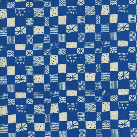 Printshop Grid in Blue